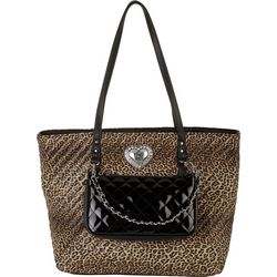 Betsey Johnson All Things 2-1 Quilted Tote Handbag
