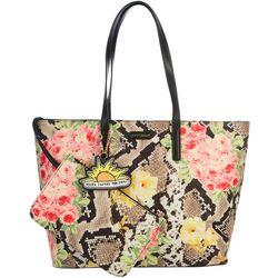 Snake In The Garden Tote Handbag