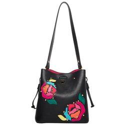 Betsey Johnson Coming Up Roses Bucket Handbag