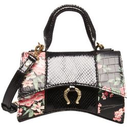 Betsey Johnson All Mixed Up Top Handle Floral Crossbody