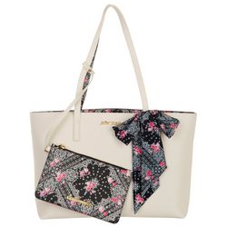Betsey Johnson Triple Compartment Tote