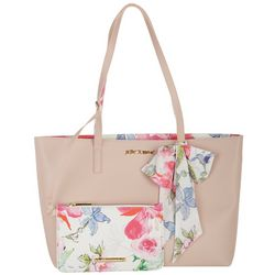 Betsey Johnson Large Tote With Removable Pouch