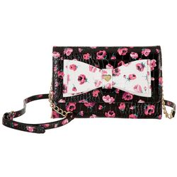 Betsey Johnson Floral Wallet Crossbody Handbag
