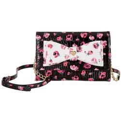 Floral Wallet Crossbody Handbag