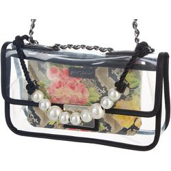 Betsey Johnson Seeing Clearly Pearl Crossbody Handbag