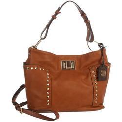 Sara Studded Exterior Pockets Hobo Bag