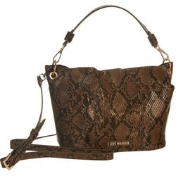 Steve Madden Luxury Chocolate Snake Bucket Handbag