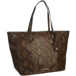 Karsyn Chocolate Snake Tote Handbag
