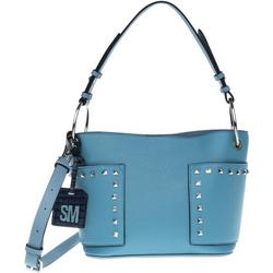 BTammie Studded Exterior Pockets Bucket Bag