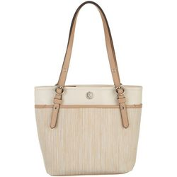 Anne Klein Woven Pocket Tote Handbag