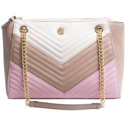Anne Klein Quilted Chain Shoulder Tote Handbag