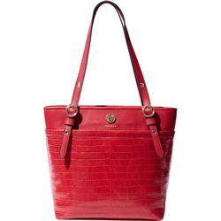 Anne Klein Croco Texture Pocket Small Tote Handbag