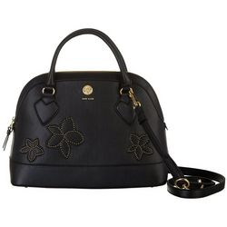 Anne Klein Triple Dome Embroidered Satchel Handbag