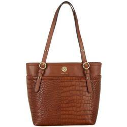 Anne Klein Animal Texture Pocket Tote Handbag
