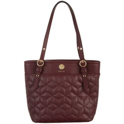 Anne Klein Quilted Small Pocket Tote Handbag