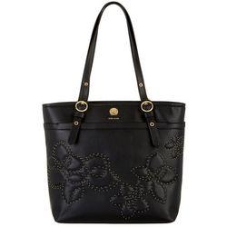 Anne Klein Embellished Flower Large Pocket Tote Handbag