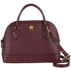 Anne Klein Triple Dome Solid Satchel Handbag