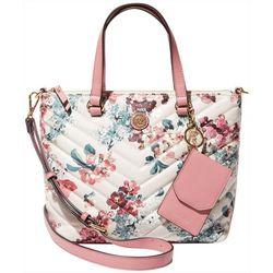 Anne Klein Convertible Floral Satchel Handbag
