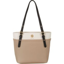 Anne Klein Tri Tone Pocket Tote Handbag