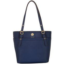 Anne Klein Solid Pocket Small Tote Handbag