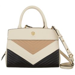 Anne Klein Quilted Curve Satchel Handbag