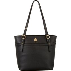 Anne Klein Solid Pocket Small Tote Handbag
