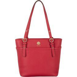 Anne Klein Solid Pocket Tote Handbag