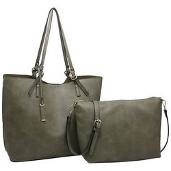 Jen & Co. Faux Leather Tote and Handbag