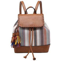 Jen & Company Faux Woven Leather Kourtney Backpack