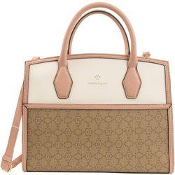 Nanette Lepore Logo Convertible Satchel Handbag