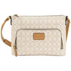 Nanette Lepore Logo Print Crossbody Handbag