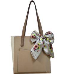 Nanette Lepore Sheans Colorblock Scarf Tote Handbag
