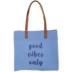 Twig and Arrow Good Vibes Only Canvas Tote