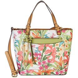 Nanette Lepore Demi Tropical Floral Satchel & Pouch
