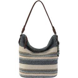 THE SAK Sequoia Indigo Stripe Crochet Hobo Handbag