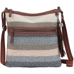 THE SAK Lucia Striped Crochet Crossbody Handbag