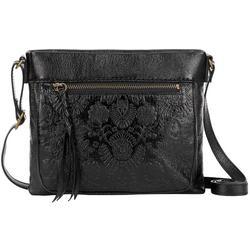 Sanibel Leather Floral Crossbody Handbag