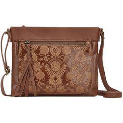 THE SAK Sanibel Leather Floral Crossbody Handbag