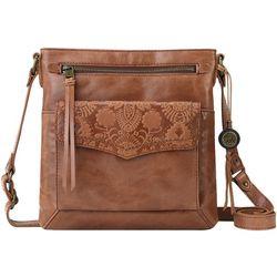 THE SAK Ventura Embossed Flap Crossbody Handbag