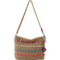 THE SAK 3-in-1 Crochet Beaded Demi Crossbody Handbag