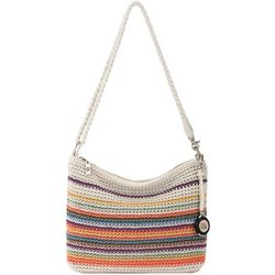 THE SAK 3-in-1 Beaded Crochet Striped Demi Crossbody Handbag