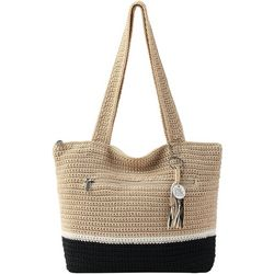Riveria Crochet Colorblock Tote Handbag