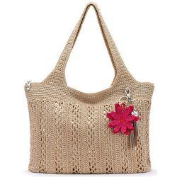 THE SAK Casual Classics Solid Crochet Tote Handbag