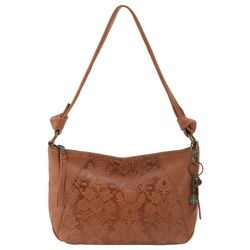 THE SAK Tobacco Floral Embossed Rialto Hobo Handbag