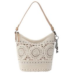 THE SAK Sequoia Medallion Crochet Hobo Handbag