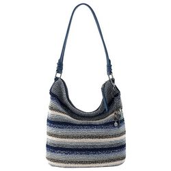 THE SAK Sequoia Indigo Stripe Crochet Hobo Handbag