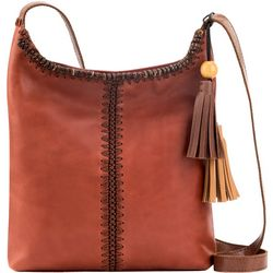 The Sak Huntley Leather Tassel Accent Crossbody