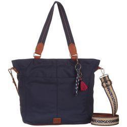 THE SAK Esperato Solid Navy Nylon Tote Handbag