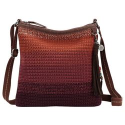 THE SAK Lucia Crochet Ombre Stripe Crossbody Handbag