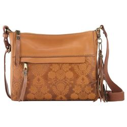 THE SAK Alameda Ochre Floral Emboss Crossbody Handbag